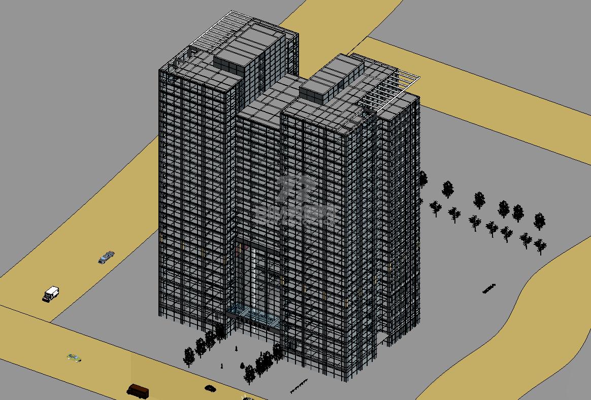 某大厦Revit模型插图