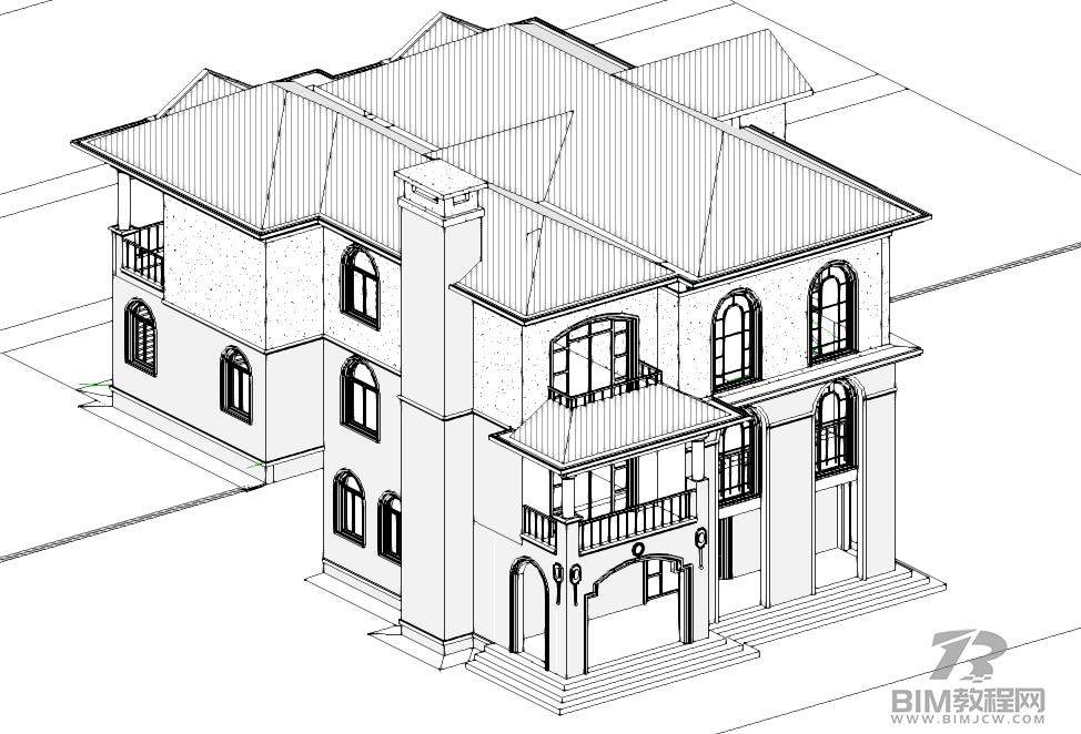 某别墅Revit模型带Revit出图插图