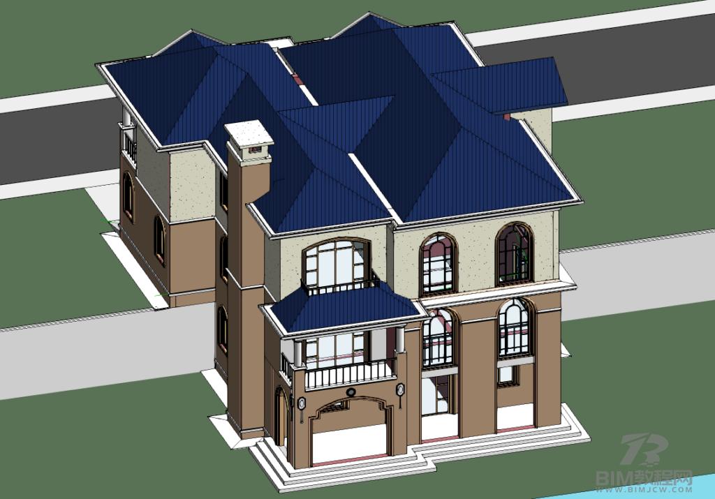 某别墅Revit模型带Revit出图插图1