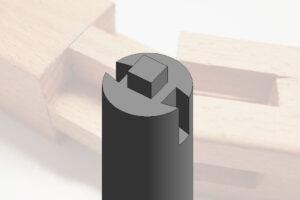 Revit绘制带榫卯的建筑柱