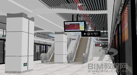 宁波地铁邱隘站Revit模型及BIM汇报文件1
