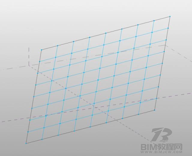 Revit分割体量表面上加点的方法