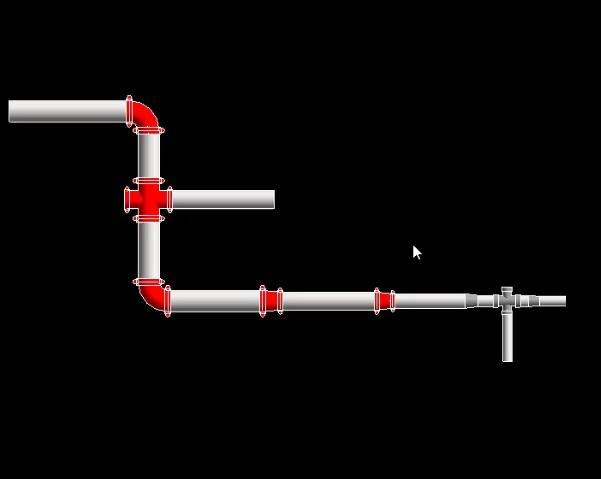 Revit快速创建不同管道材质