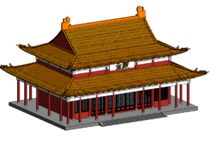 Revit古建筑模型